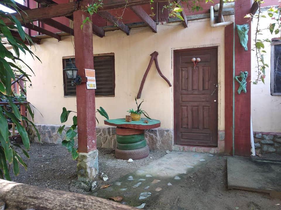Patio de casa de playa en Tela, Honduras